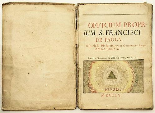 Antiphonary officium proprium san francisco de paula