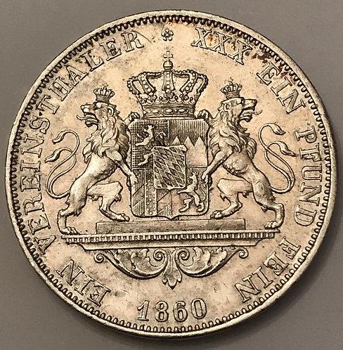 1 Vereinsthaler - Maximilian II - 1860