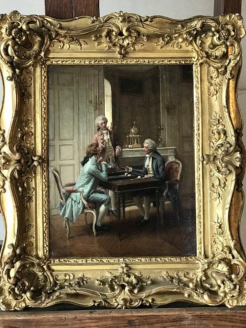 "Adrien Moreau   ""backgammon players"""