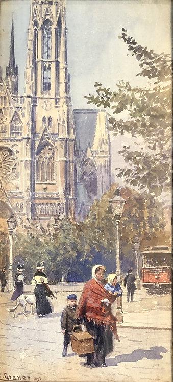 Saint Stephens Cathedral Wien by Ernst GRANER
