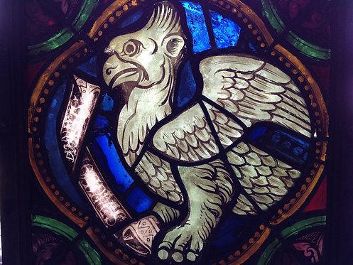 Four evangelists stained glass window