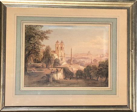Rudolf Müller View of St Peter and Trinita dei Monti
