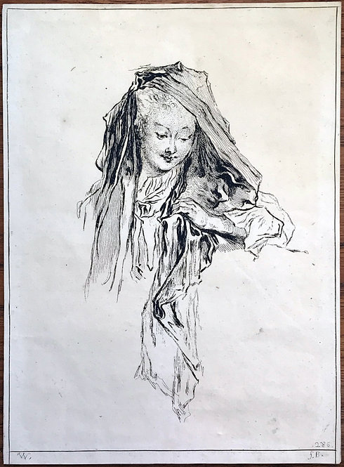 Print by Francois Boucher after Antoine Watteau
