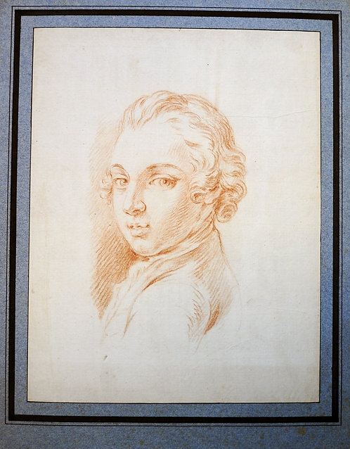 Old Master Drawing Portrait of a young man