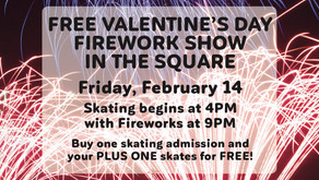 Free Fireworks show on Valentine's Day in The Square