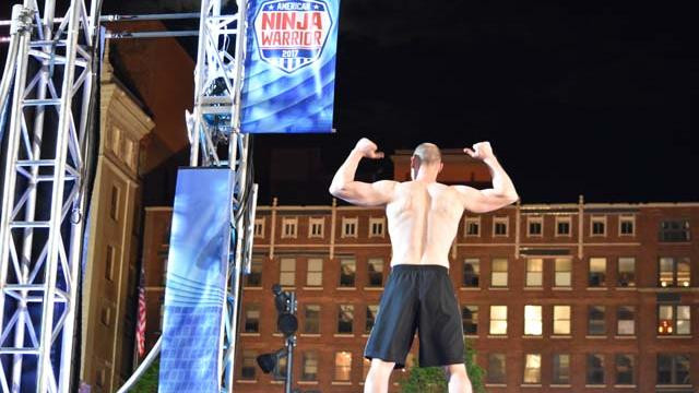 American Ninja Warrior qualifying rounds in Cleveland's Public Square