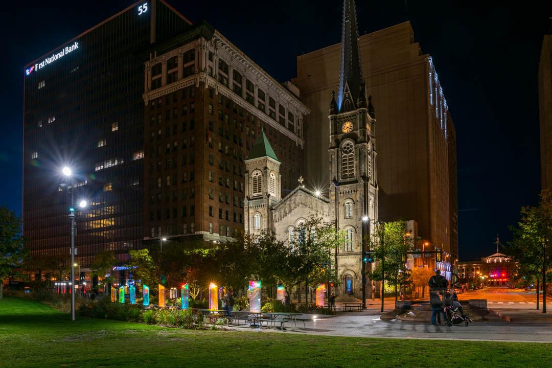 Prismatica in Public Square, photos by Bob Perkoski