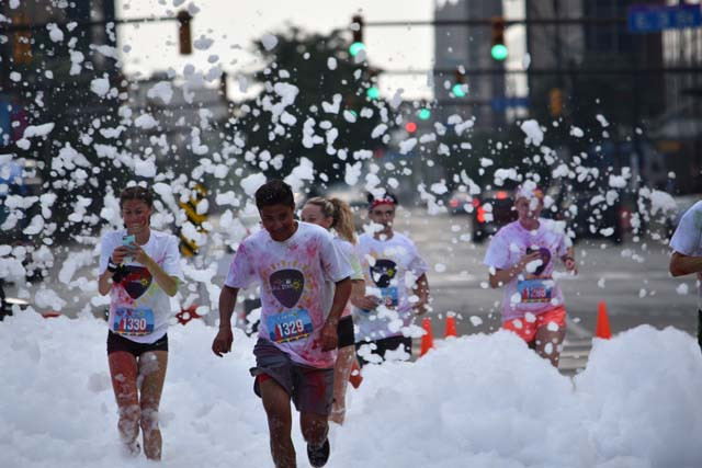 The Color Run, MLB 5K, brought thousands of runners into The Square