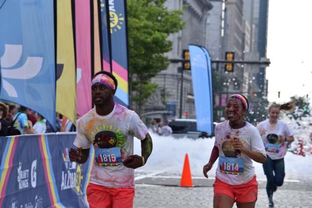 The Color Run in Cleveland Public Square