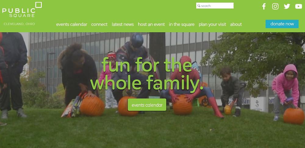 Check out the ALL NEW design for clevelandpublicsquare.com