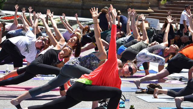 Yoga on the Green returns to Public Square May 8