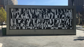 'Intersection' art wall installation in Public Square
