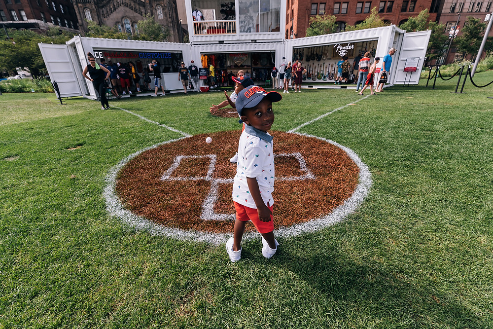 Baseball fans of all ages find something they like at Mid-Summer Village in Public Square