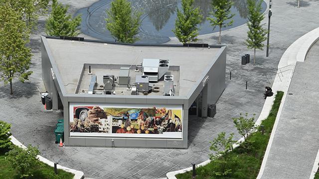 Mural designed by Dakarai Akil on display in Public Square