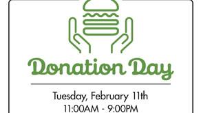 Shack Shack Donation Day, Tuesday, February 11