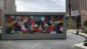 Landform public art display in Public Square