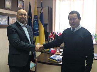 Зустріч  з радником Посольства Киргизії в Україні .
