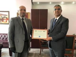 Зустріч з Повноважним Послом  Держави Кувейт в Україні Паном Й.В. Д-р Рашидом Хаммад Аль-Адвані.