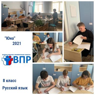 8 класс - Всероссийская проверочная работа по Русскому языку (19 мая 2021 г.)