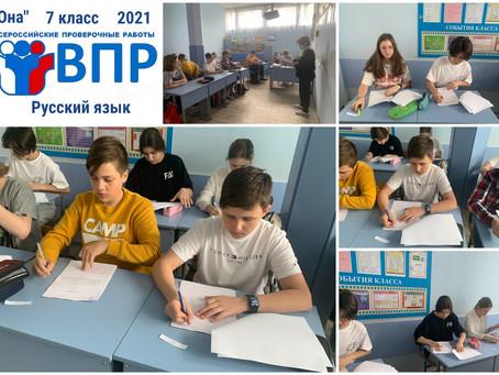 7 класс - Всероссийская проверочная работа по Русскому языку (21 мая 2021 г.)
