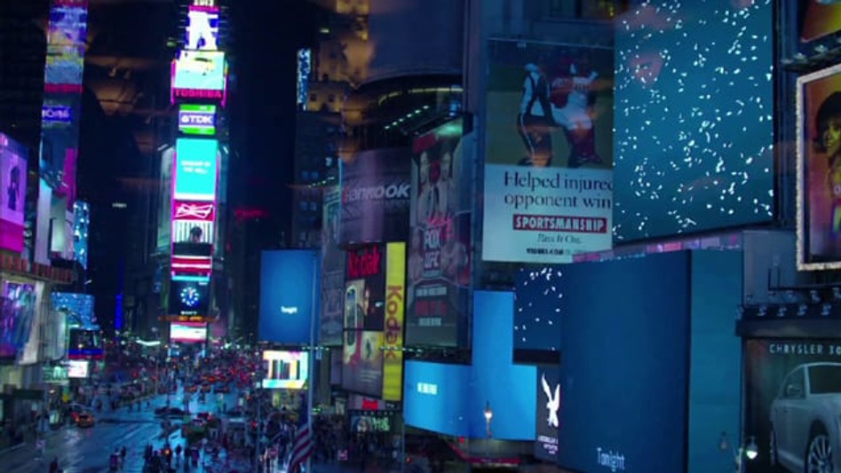 """TIMES SQUARE MIDNIGHT MOMENT - """"THE POWER OF WORDS"""" 