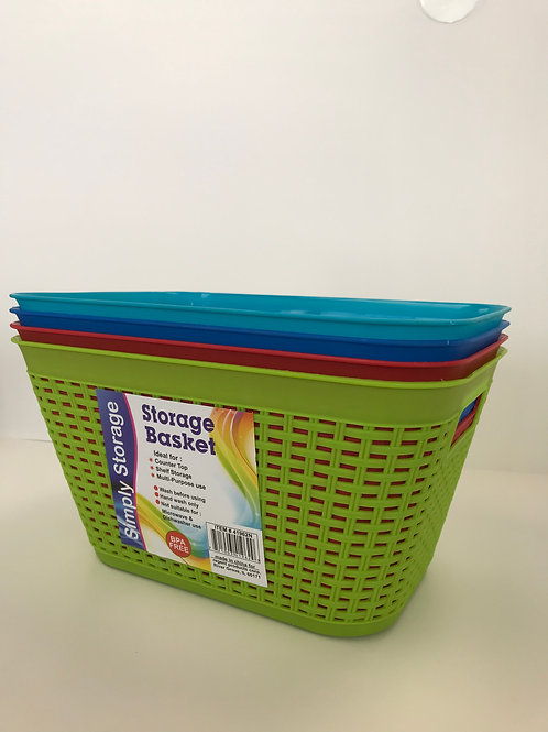 Simply Storage Basket Assorted Colors 11 in X 8 in X 6 in
