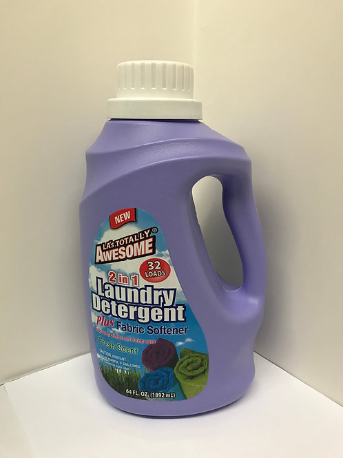 LA Totally Awesome 2 in 1 Laundry Det & Fabric Softener 64 OZ