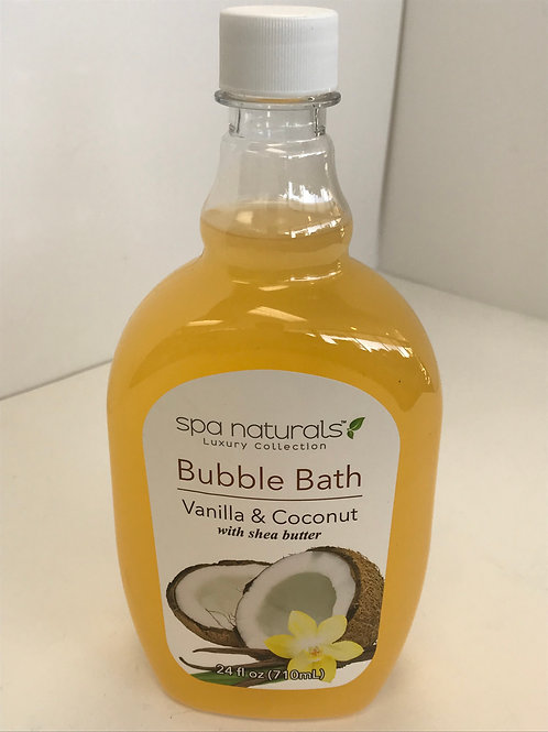 Spa Naturals Vanilla & Coconut w/Shea Butter Bubble Bath 24 OZ