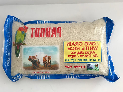 Parrot Long Grain White Rice 5lbs