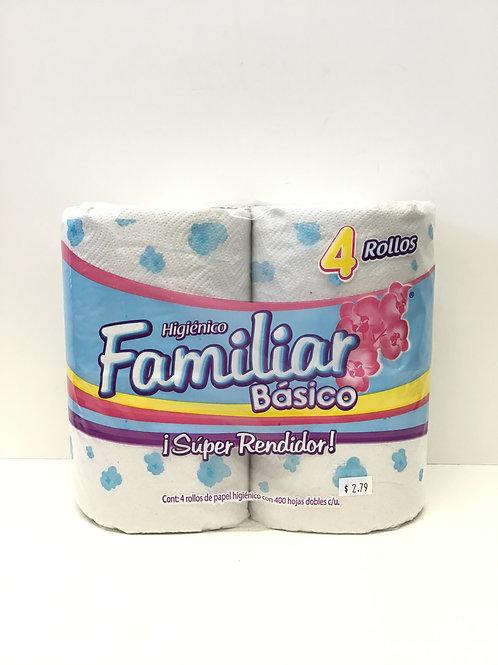 Familiar Basico Toilet Tissue 4 Rolls