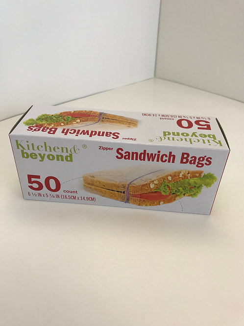 Kitchen & Beyond Zipper Sandwich Bags
