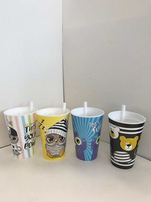 Cups w/Straws