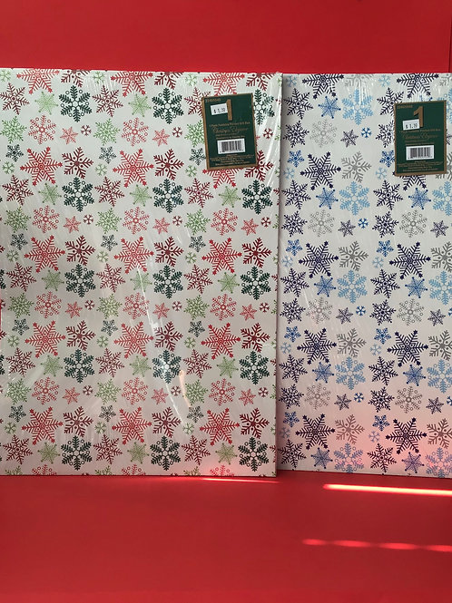 1 Large Snow Flakes Gift Box Assorted
