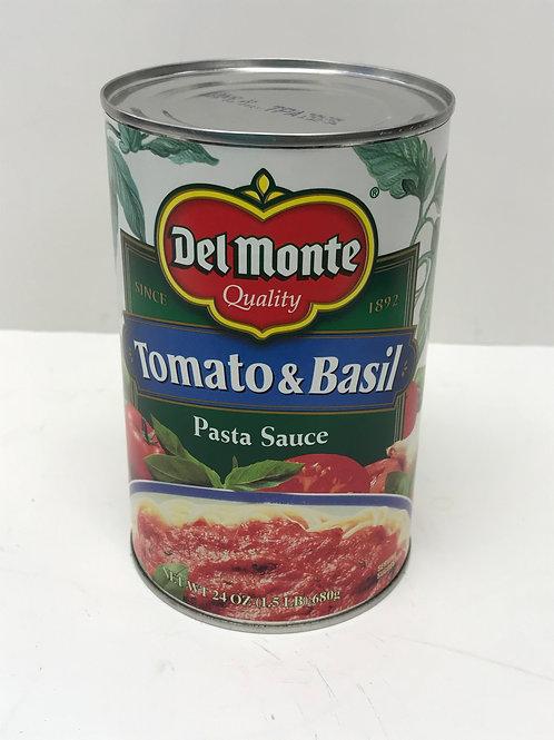 Del Monte Tomato & Basil Pasta Sauce 24oz