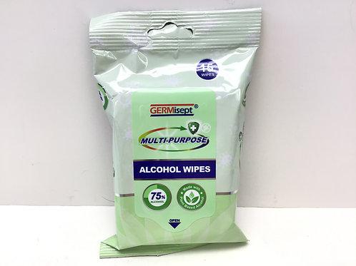 GERMisept Sterilization Hospital Grade Multi-Purpose 75% Alcohol Wipes 15 ct