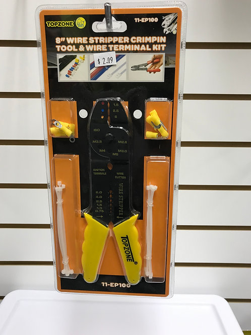 """Wire Stripper Crimpin Tool & Wire Terminal Kit 9"""""""