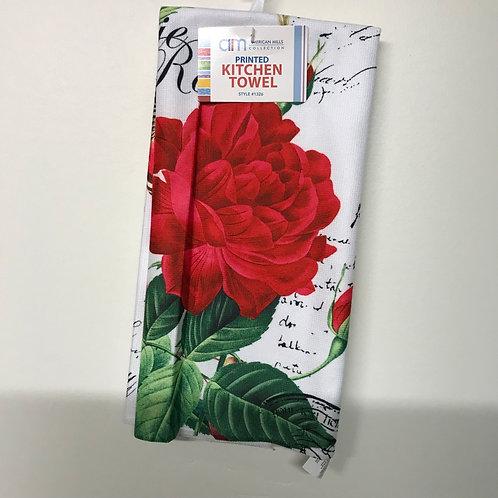 American Mills Kitchen Towel (Red Rose)