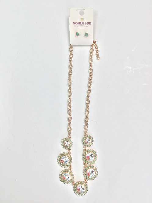 Noblesse Jewels Necklace & Earings Set