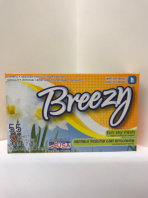 Breezy Sun Sky Fresh Dryer Sheets (55 Count)