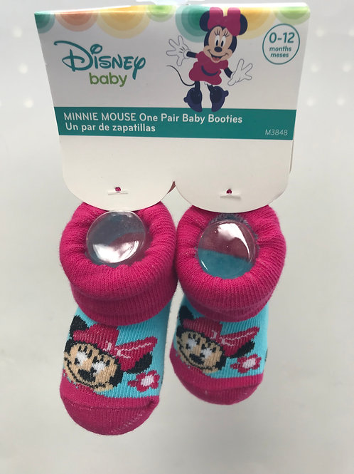 Minnie Mouse Baby Booties (Red)