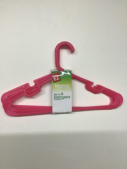 EZ 6 pk Pink Hangers