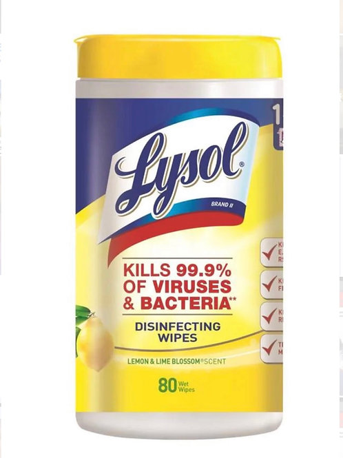 Lysol Disinfecting Wipes (Lemon & Lime Scent) 80 ct