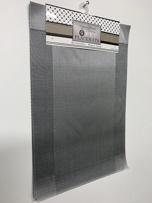 American Linen PVC Placemats 4 pc (Dark Gray)