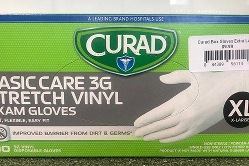 Curad Basic Care Stretch 3G Exam Gloves Medium 100 ct