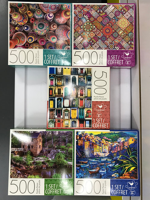 500 Pc Puzzle Assorted Puzzle w/Colors