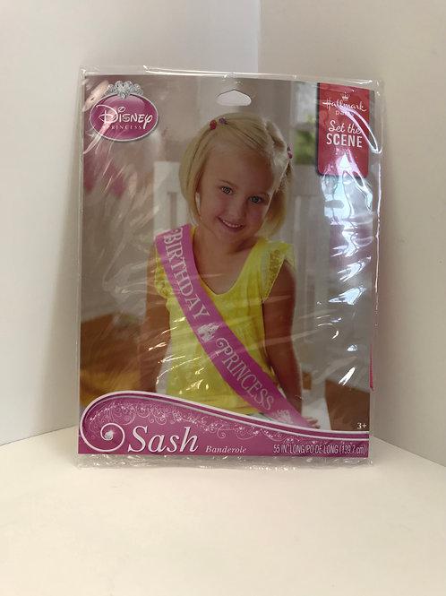 Disney Princess Birthday Sash