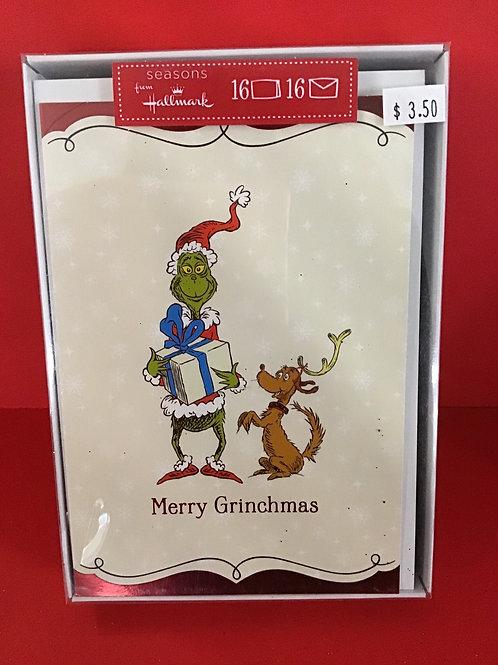 16 Hallmark Box Grinchmas Christmas Cards