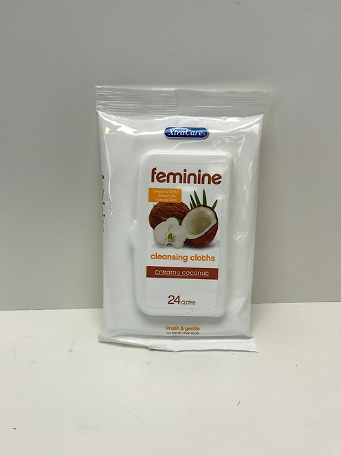 Feminine Cleansing Cloths Creamy Coconut 24ct.