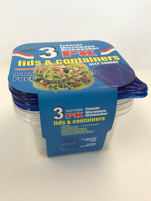 3 pk Freezer Containers