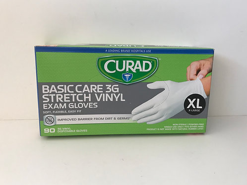 Curad Basic Care Vinyl Gloves (X-Large) 90 ct